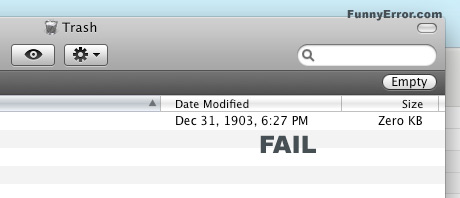Funny Computer Fail Date Modified Fail