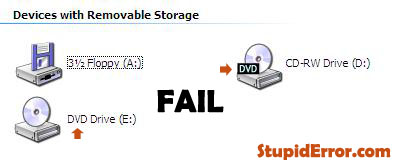 Funny My Computer DVD Drive Icon Fail